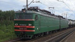 Электровоз ВЛ15-011 с грузовым поездом, платформа 29 км(ВЛ15-011 (Владимир Ленин, тип 15) - мощнейший в мире электровоз постоянного тока, выпускавшийся в 1984—1991 годы,..., 2016-08-07T19:30:03.000Z)
