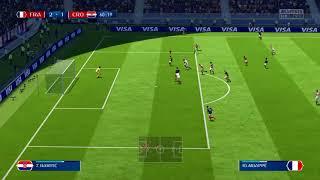 Raide solitaire Kylian Mbappe CDM 2018 France Croatie Fifa 18