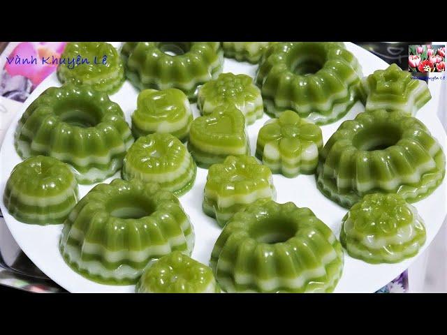 Bánh da Lợn - Cách làm Bánh da Lợn Đậu Xanh lá Dứa nước Cốt Dừa thơm ngào ngạt by Vanh Khuyen