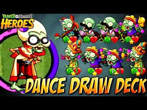 Plants Vz Zombies Heroes - DANCE DRAW DECK IS OP - Top Best Professor Brainstorm Zombie Deck