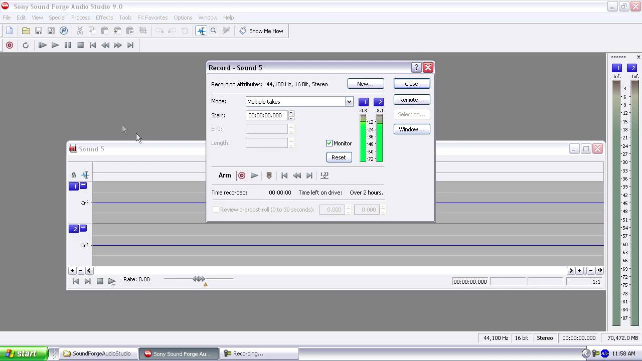 Quick Tip Video Recording In Sound Forge Audio Studio Youtube Signal Meter Circuit Effects Remote Level