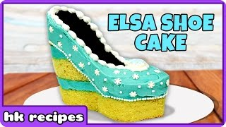Frozen Elsa Shoe Cake Recipe | DIY Princess Birthday Cake Recipe by HooplaKidz Recipes