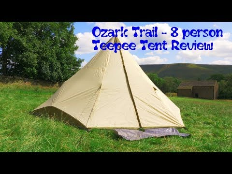 quality design 6a9f8 5cd11 Ozark Trail - 8 Person Teepee Tent Review 2019