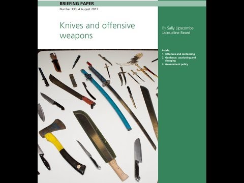 UK Weapon Laws: 19 Offensive Weapons - Nonsensical?