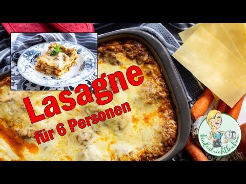 Lasagne für 6 Personen mit dem Thermomix