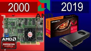 Evolution of AMD Radeon Video Cards (2000 - 2019) + Test Running Games