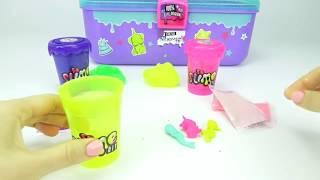 Набор детского рукоделия, делаем разноцветные лизуны