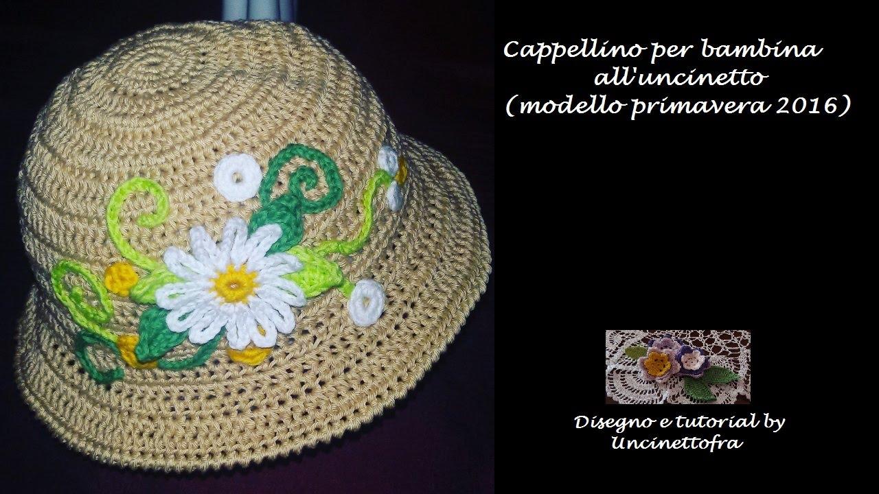 Cappellino Per Bambina Alluncinetto Tutorial Modello Primavera