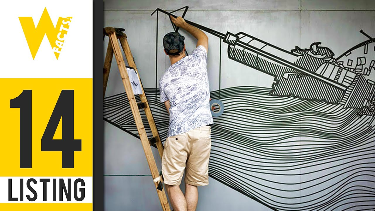 Artist Uses Tape Instead Of Paint To Create Beautiful Street Art | LISITING #25