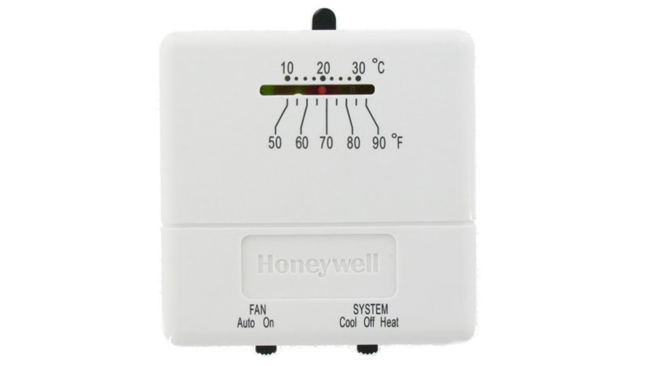 honeywell heat and cool non programmable thermostat ct31a1003 rh youtube com