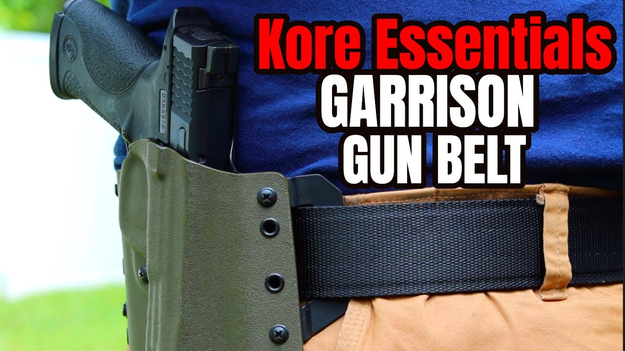 New Kore Garrison Gun Belts Youtube Their locking track system makes it easy to adjust! new kore garrison gun belts