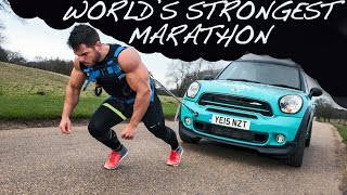 World's Strongest Marathon: 1.4 Tonne MINI + 26.2 Miles