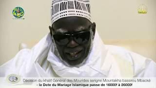 Urgent: Ndigeul de Serigne Touba Cheikh Mountakha