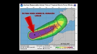 ÚLTIMA HORA. Huracán Leslie más cerca de Galicia.