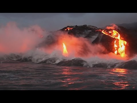 Hawaii Lava Ocean Entry Continues (Sept. 30, 2016)