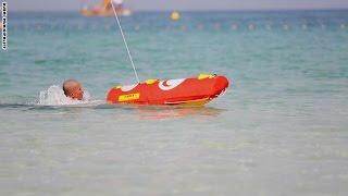 شاهد.. روبوت لإنقاذ الغرقي بدُبي