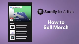 How to Sell Merch   Spotify for Artists