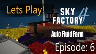 Minecraft Sky Factory 4 Ep 6: Endless Resources with the Fluid Collector!