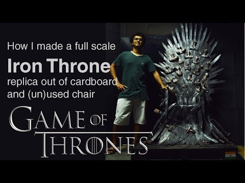 How I made a full scale Iron Throne replica out of cardboard and (un)used chair