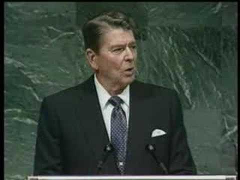 Was Reagan's Speech at the UN Extra Terrestrial Subliminal Dissemination?