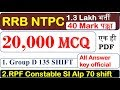 RRB NTPC Exam 2019 ||20,000 MCQ ||GK Science ||Expected imp questions