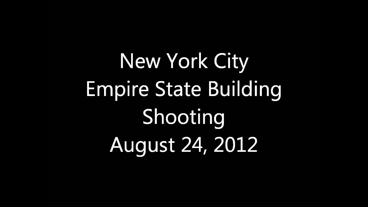New York City Manhattan Empire State Building Shooting - Police Audio  Scanner Feed - August 24 2012