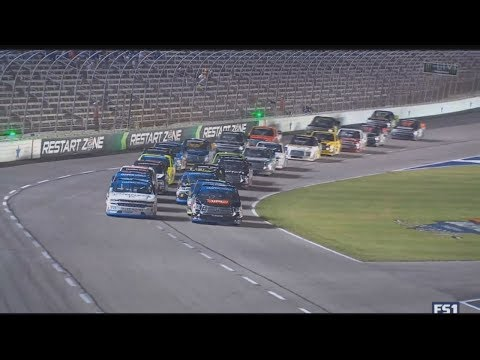 NASCAR Camping World Truck Series 2017. Texas Motor Speedway(2). Stage 1 Last Laps