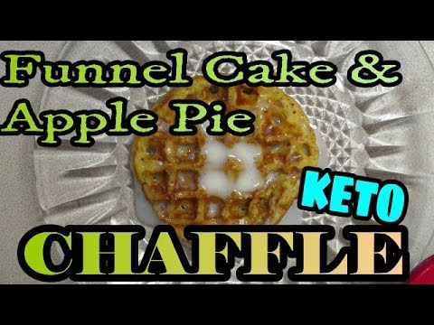 funnel-cake-and-apple-pie-chaffle-with-drizzle-|-base-chaffle-mix,-make-3-diff-chaffles!