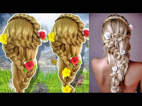Beautiful Hairstyles for wedding/party 🌹 Prom Hairstyle 🍀 The Fairytale Braid 🌾 hairstyle girl