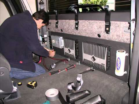 Chevy silverado truck custom car stereo with custom subwoofer