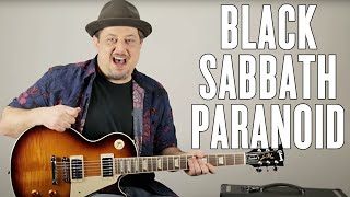 """How to Play """"Paranoid"""" by Black Sabbath on Guitar - Guitar Lesson - Ozzy - Metal"""