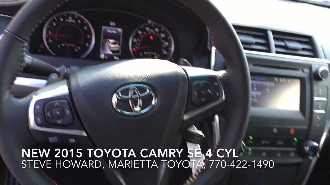 new 2015 toyota camry se presented by steve howard at marietta