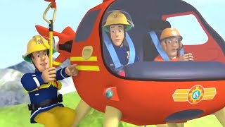 Fireman Sam US 🚒Daring Helicopter Rescue | Best Rescue Compilation 🔥Kids Movie