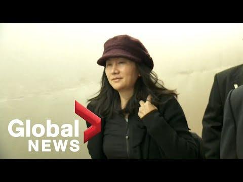 Huawei CFO Meng Wanzhou arrives at Vancouver court
