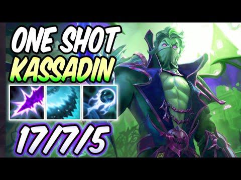 ONE-SHOT KASSADIN FULL AP MID INSANE BURST GAMEPLAY | League Of Legends