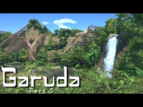 Planet Coaster - Garuda (Part 5) - Waterfall & Jungle Landscaping (ft. RudiRennkamel)