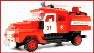 City ​​of masters 8834 fire truck ZIL 130 - Speed Build