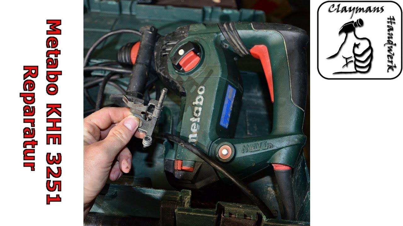 metabo bohrhammer khe 3251 - wie funktioniert die maschine und wie