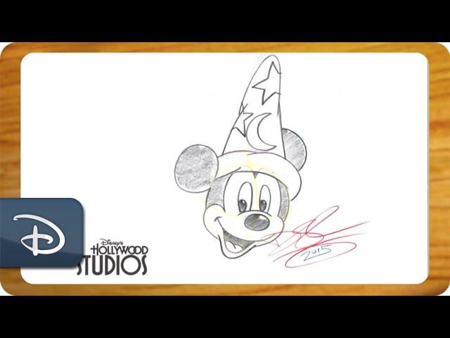 How-To Draw Sorcerer Mickey From 'Fantasia' | Walt Disney World