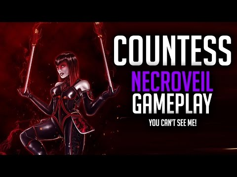 Paragon Countess Necroveil Gameplay - YOU CAN'T SEE ME!