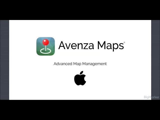 Avenza Maps Advanced - Map Management (iOS)