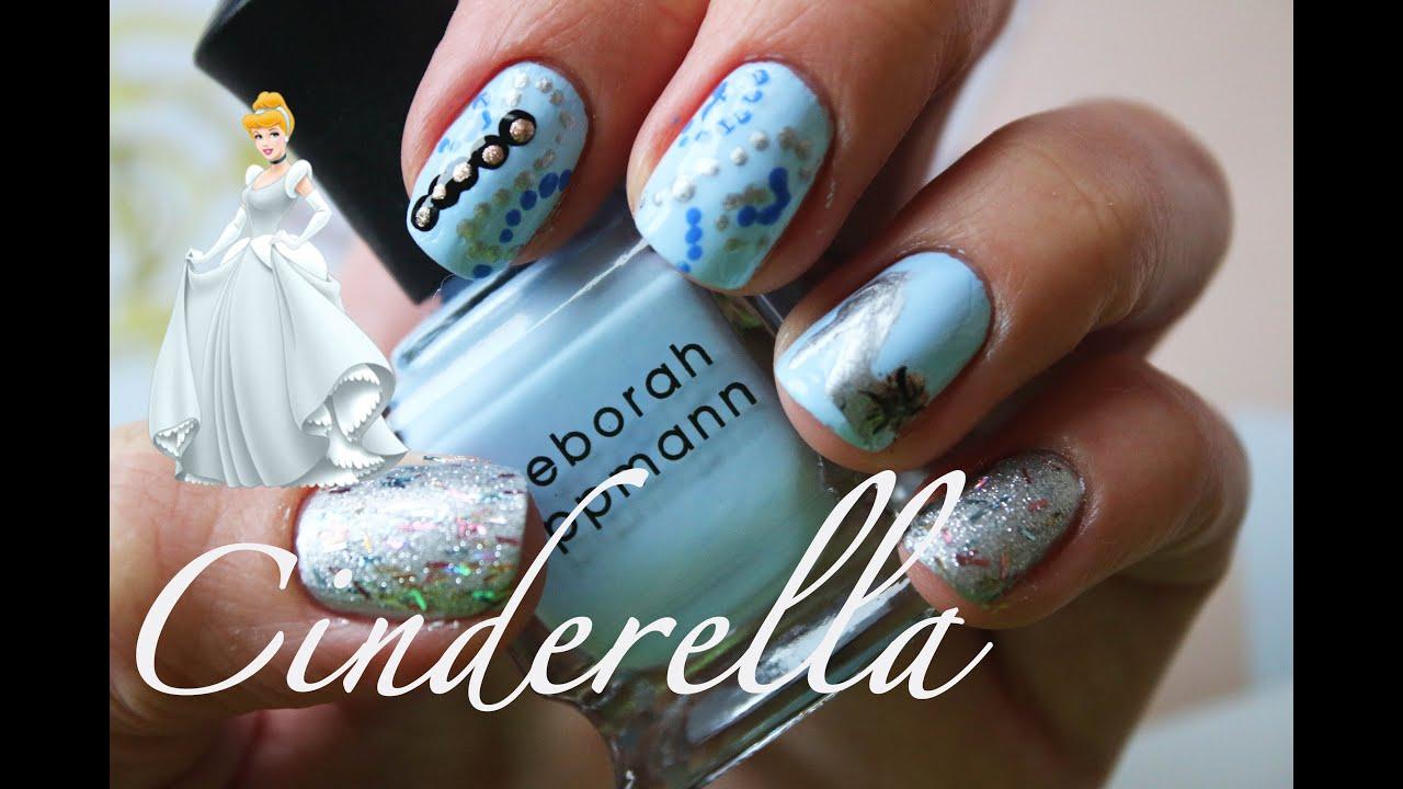 Cinderella Nail Design Tutorial Youtube