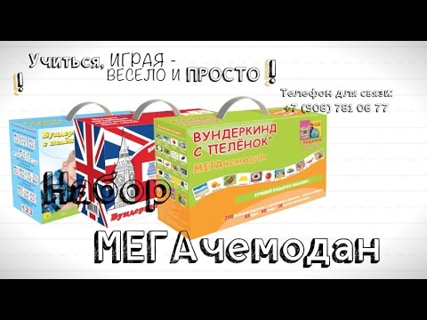 Описание набора МЕГАчемодан: карточки Домана от ТМ Вундеркинд с пеленок