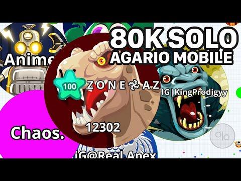AGARIO MOBILE INTENSE 80K SOLO! (Agar.io Mobile Gameplay)