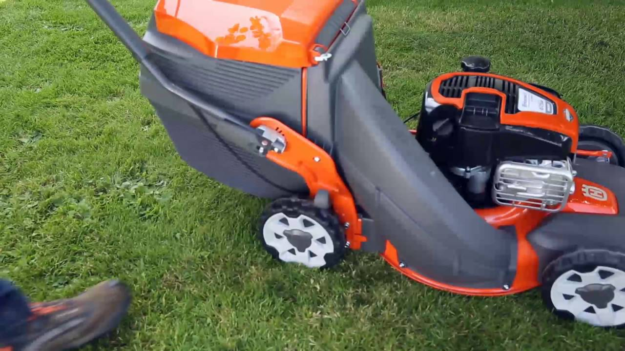 hight resolution of how to start a petrol lawn mower with husqvarna s unique electric rh youtube com best