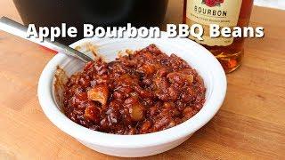 Apple Bourbon BBQ Beans | Smoked Baked Beans on Big Green Egg