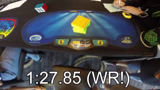 6x6 Rubik's cube world records - single 1:27.85, average 1:34.68