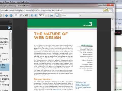 K-State Online course navigation