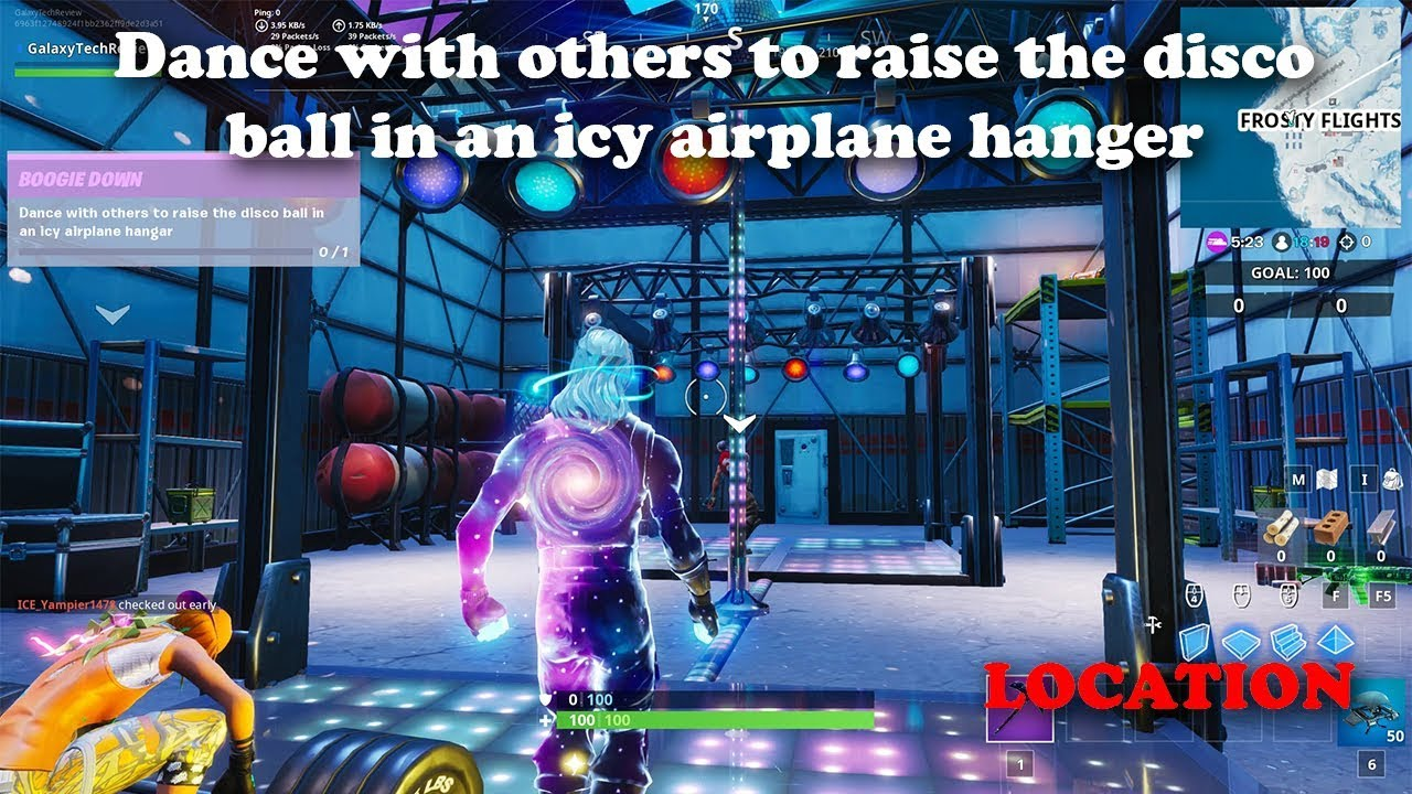 Dance With Others To Raise The Disco Ball In An Icy Airplane Hanger Location Youtube