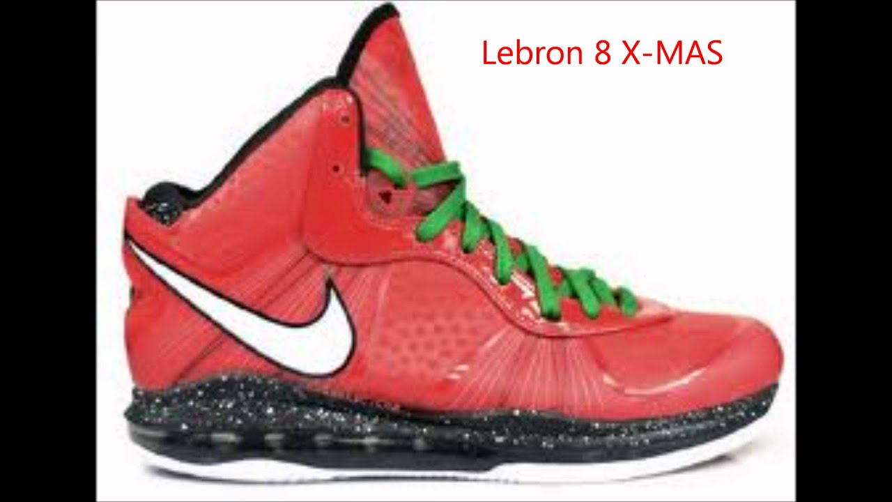 Nike Lebron VIII 8 South Beach Entourage Christmas Shoes for SALE ...